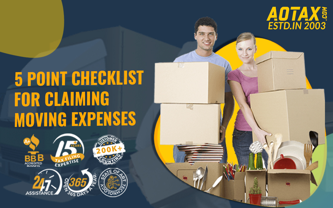 5 Point Checklist for Claiming Moving Expenses
