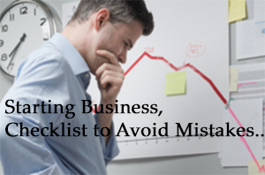 Checklist: 5 Top Mistakes Every Small Business Owner Make When Starting a Business
