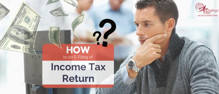 How to do e-filing Income Tax Return