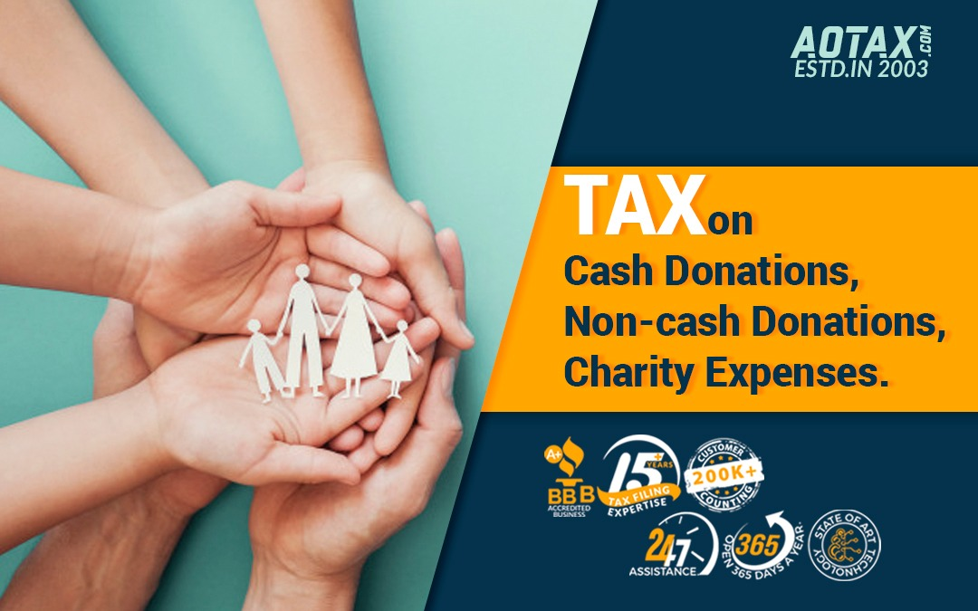 Tax on Cash Donations, Non-cash Donations, Charity Expenses