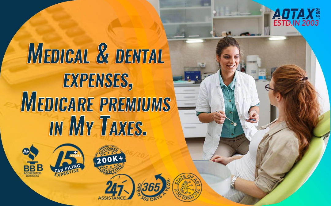 Medical & dental expenses, Medicare premiums in My Taxes