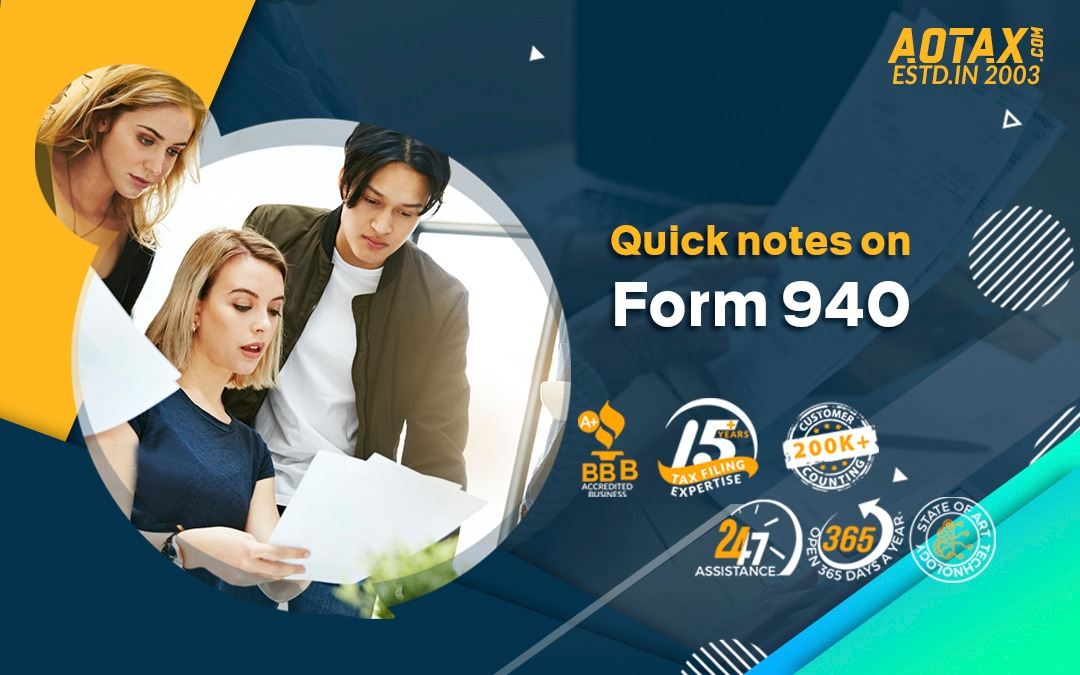 Quick notes on Form 940