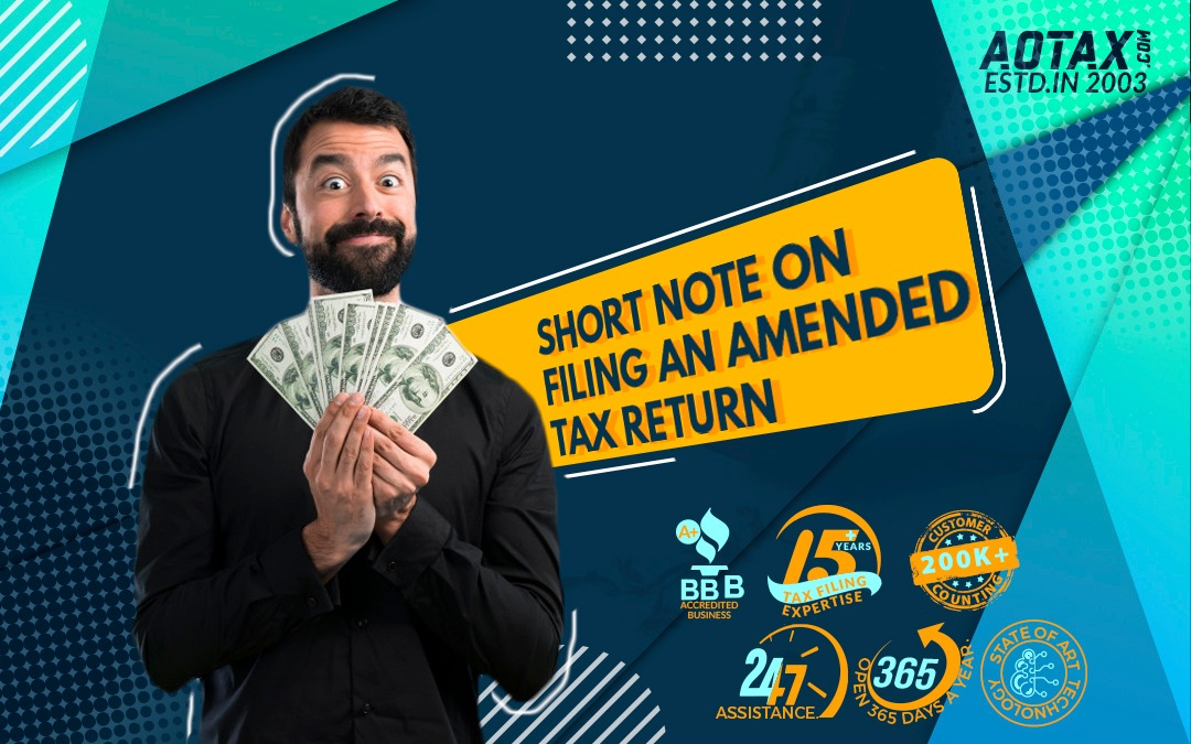 Short note on filing an amended tax return