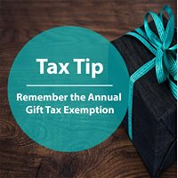 Remember the Annual Gift Tax Exemption