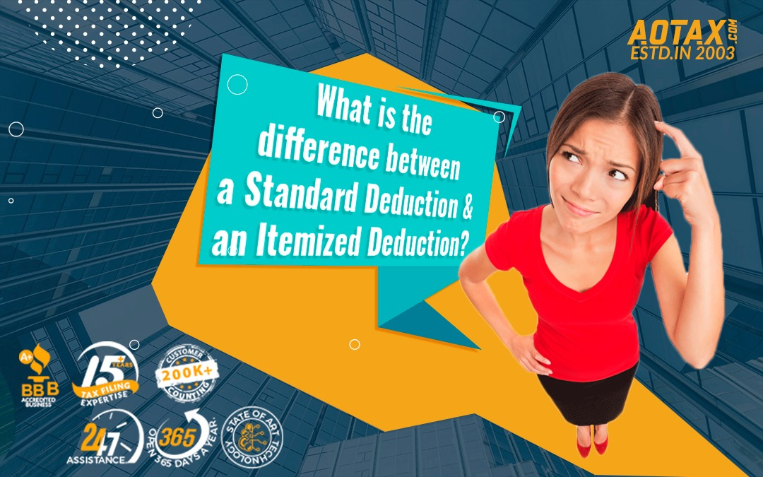 What is the difference between a Standard Deduction and an Itemized Deduction