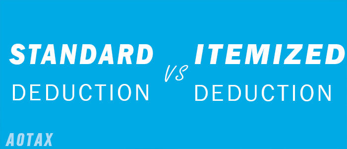 What is the difference between a Standard Deduction and an Itemized Deduction1