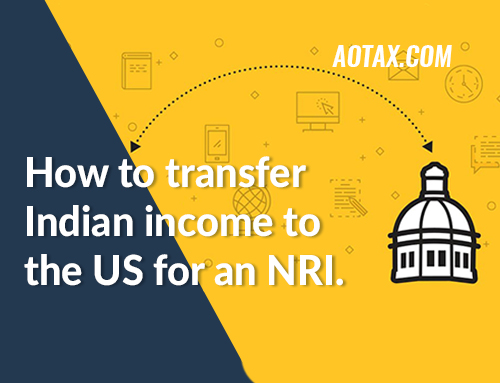 How to transfer Indian income to the US for an NRI?
