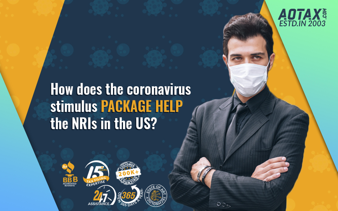How does the coronavirus stimulus package help the NRIs in the US?