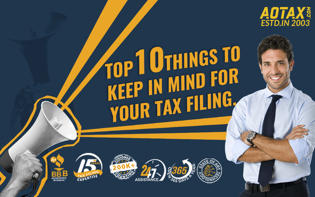 Top 10 things to keep in mind for your tax filing