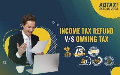 Income Tax Refund V/S Owning tax