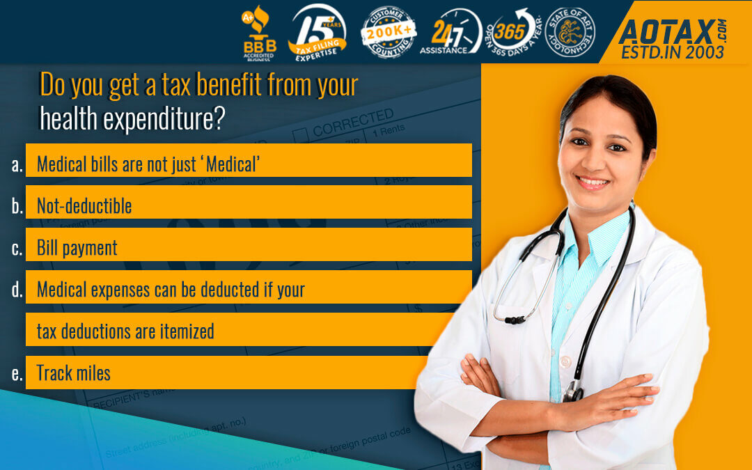 Do You get a tax benefit from your health expenditure?