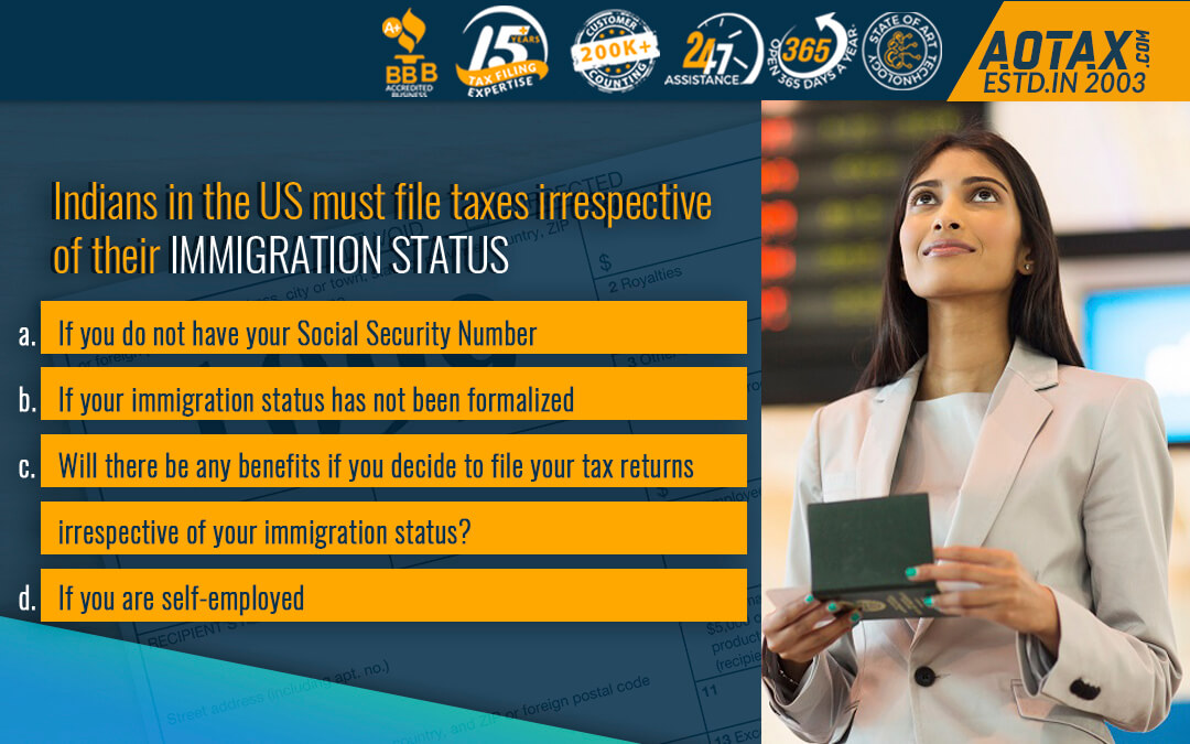 Indians in the US must file taxes irrespective of their immigration status